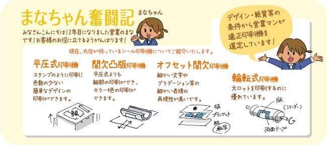 まなちゃん奮闘記 印刷機のご紹介